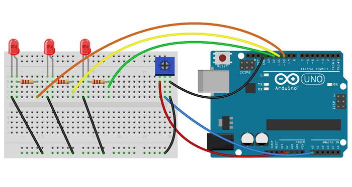 Arduini Potentiometer Example